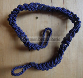 om252 - Transportpolizei TraPo East German Police dark blue whistle lanyard