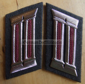 sbbs087 - pair of Stasi Wachregiment FD Officer Collar Tabs - large - Dress Uniform