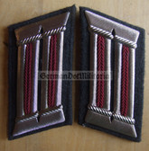 sbbs088 - pair of Stasi Wachregiment FD Officer Collar Tabs - small - Dress Uniform
