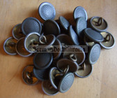 sbbs068 - 25 - 1950's/60's metallic Pair of Shoulder board buttons and correct string for FDA subdued camo uniforms
