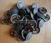 sbbs068 - 16 - pre-1959 metallic Pair of Shoulder board buttons and string for Blumentarn FDA subdued camo uniforms