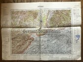wd282 - German Wehrmacht Army map - BASEL - Switzerland, Germany, France, Freiburg, Solothurn, Luzern