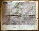 wd286 - British War Office Army German invasion map from June 1943 - ROUEN PARIS - France