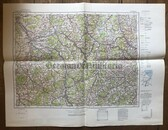 wd288 - German Wehrmacht Army map - NANCY - France, Toul, Chalons, St Mihiel