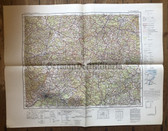 wd289 - German Wehrmacht Army map - FRANKFURT/MAIN - Germany, Hanau, Marburg, Giessen, Hessia
