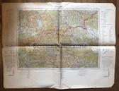 wd291 - German Wehrmacht Army map - CILLI - Austria, Yugoslavia, Leibnitz, Veit