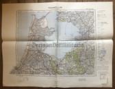 wd279 - German Wehrmacht Army map - AMSTERDAM - Netherlands, Haarlem, Hilversum, Utrecht, Lemmer