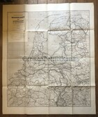 wd273 - Wehrmacht Army map - huge wall chart map - NIEDERLANDE - Netherlands, France, Belgium, Germany