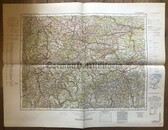 wd270 - German Wehrmacht Army map - STUTTGART - Germany, Ulm, Reutlingen, Pforzheim, Biberach