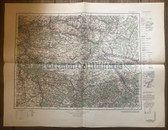 wd267 - German Wehrmacht Army map - PARIS OST - France, East of Paris, Montereau, Troyes, Romilly, Melun