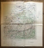wd266 - German Wehrmacht Army map - LILLE BRUXELLES - France, Belgium, Netherlands, Liege, Bruges, Rotterdam, Anvers, Middelburg
