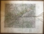 wd264 - German Wehrmacht Army map - CHEMNITZ - Germany, Czechoslovakia, Saxony, Pirna, Zwickau, Kladno