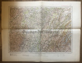 wd261 - German Wehrmacht Army map - GENF - Geneva, Switzerland, France, Chalon, Le Creusot