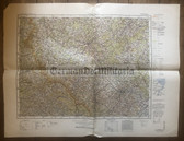 wd260 - German Wehrmacht Army map - PILSEN - Germany, Czechoslovakia, Plzen, Furth, Bavaria, Bohemia