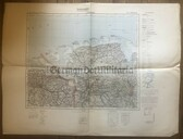 wd259 - German Wehrmacht Army map - OLDENBURG - Germany, Netherlands, Wilhelmshaven, Norderney, Groningen, Emden