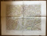 wd255 - German Wehrmacht Army map - DIJON - France, Besancon, Dole, Langres