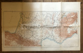 wd254 - German Wehrmacht Army map - SOUTHERN FRANCE RAILWAYS NETWORK - France, Spain, Switzerland, Italy, Marseille, Geneva, Lyon, Bordeaux, Pamplona
