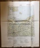 wd252 - German Wehrmacht Army map - BERLIN - Germany, Denmark, Sweden, Poland, Potsdam, Bornholm, Bromberg, Kolberg, Malmö, Copenhagen