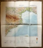 wd251 - German Wehrmacht Army map - MARSEILLE - France, Spain, Barcelona, Catalonia, Gerona, Perpignon, Toulouse