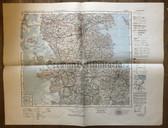 wd248 - German Wehrmacht Army map - KIEL - Germany, Denmark, Flensburg, Sonderburg, Tondern, Sylt, Husum