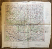 wd246 - Wehrmacht Army map - Luftwaffe aviation map - LIMOGES - France, Angouleme, Agen, Cahors, Montauban