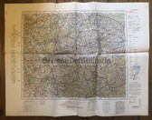wd245 - German Wehrmacht Army map - DÜSSELDORF - Germany, Netherlands, Wuppertal, Leverkusen, Bocholt