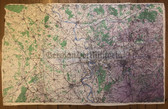 wd243 - British Army Germany Invasion map from 1944 - ESSEN - Netherlands, Germany, Krefeld, Venlo, Duisburg, Xanten, Krefeld