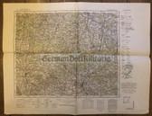 wd242 - German Wehrmacht Army map - MAGDEBURG - Germany, Elbe, Gardelegen, Stendal, Braunschweig, Helmstedt, Wittenberge