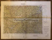 wd240 - German Wehrmacht Army map - GRAZ - Austria, Steiermark, Judenburg, Leoben, Weiz