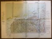 wd225 - German Wehrmacht Army map - GRONINGEN - Netherlands, Germany, Ameland, Emden, Norderney, Winschoten