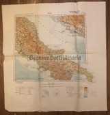 wd222 - German Wehrmacht Army map - ROM - Italy, Croatia, Rome, Roma, Napoli, Salerno, Monte Casino