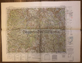 wd218 - German Wehrmacht Army map - NÜRNBERG - Germany, Bavaria, Nuremberg, Bamberg, Ansbach, Regensburg