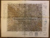 wd217 - German Wehrmacht Army map - ERFURT - Germany, Thuringia, Gotha, Coburg, Hof, Weimar