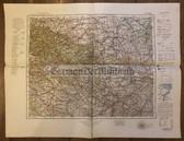 wd216 - German Wehrmacht Army map - HALLE - Germany, Halberstadt, Langensalza, Bernburg, Nordhausen, Harz, Dessau, Bitterfeld