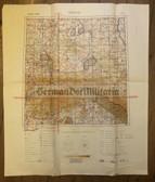 wd213 - c1944 German Wehrmacht Luftwaffe map - KRAKAU - Poland, Hungary, Slovakia, Radom, Litzmannstadt, Przemysl, Auschwitz, Ratibor
