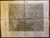 wd209 - German Wehrmacht Army map - OPPELN - Poland, Czechoslovakia, Braunau, Schweidnitz, BriegOpole,