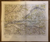 wd208 - German Wehrmacht Army map - ORLEANS - France, Tours, Vendome, Blois, Romorantin, Loches