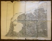 wd205 - German Wehrmacht Army map - LEEUWARDEN TO OSNABRUECK - Netherlands, Germany, Apeldoorn, Hengelo, Amsterdam, Tessel