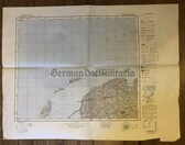 wd200 - German Wehrmacht Army map - LEEUWARDEN - Netherlands Holland Tessel Ameland