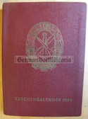 ob045 - c1954 Pocket Diary and Handbook for the GST Gesellschaft fuer Sport und Technik