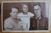 sspc005 - WW2 era Firefighter photo with wife and child
