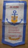 oo108 - NVA Volksmarine Navy Music Corps Peenemünde 30 years anniversary Wimpel Pennant