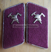 sbbs074 - Voluntary Feuerwehr Fire Fighters officer Collar Tabs - Dress Uniform