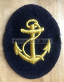 om040 - Maat Volksmarine Seedienst - Naval Service - sleeve patch - blue