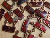om034 - East German NVA Army & ZV Civil Defence BESTER badge repeat number hanger