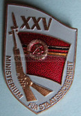 om945 - 6 - original MfS Stasi Staatssicherheit 25 years anniversary badge - Erich Mielke