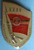 om955 - original MfS Stasi Staatssicherheit 35 years anniversary badge - Erich Mielke