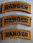 wh028 - 3 - US Army Ranger uniform unit patch - 1 only
