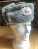 wo397 - NVA Army & Grenztruppen Officer Winter Fur Cap Ushanka - different sizes available