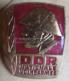 om103 - NVA Army Bester Badge with glass enamel - 1st type mid 1960's without repeat hanger brackets - worn on uniforms